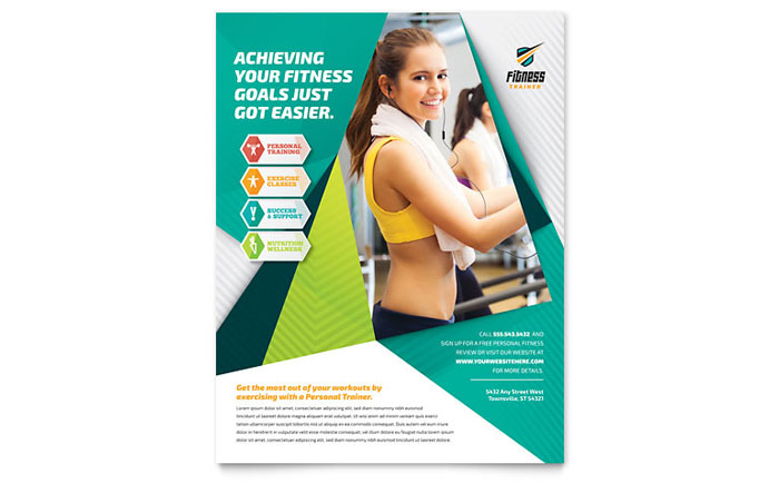 Fitness Trainer Flyer Template - Word & Publisher