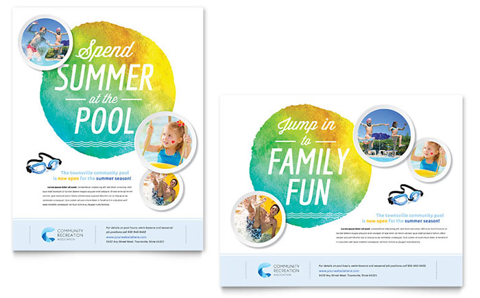 Poster templates for word free