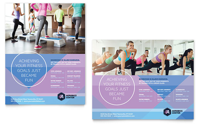 Aerobics Center Poster Template - Word & Publisher