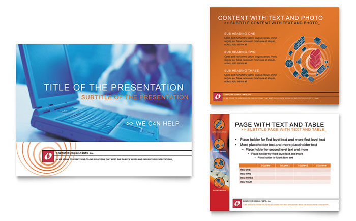 Computer Consulting Company PowerPoint Presentation Template - PowerPoint