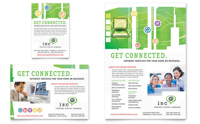 ISP Internet Service Flyer & Ad Template - Word & Publisher