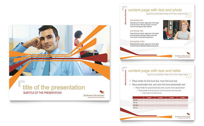 Software Developer PowerPoint Presentation Template - PowerPoint