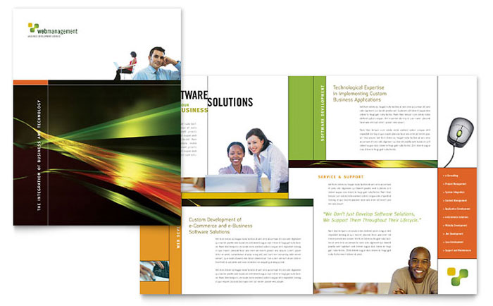 Internet Software Brochure Template - Word & Publisher