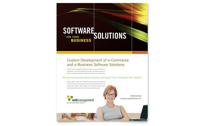 Internet Software Flyer Template - Word & Publisher