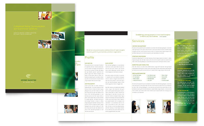 Internet marketing brochure template word publisher for 11x17 half fold brochure template