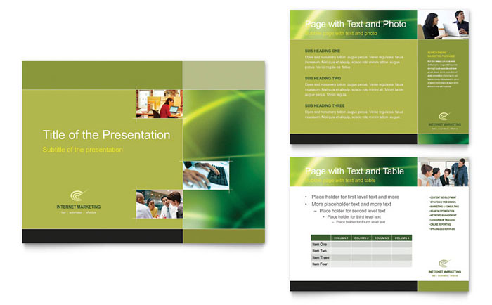 internet marketing powerpoint presentation powerpoint template. Black Bedroom Furniture Sets. Home Design Ideas