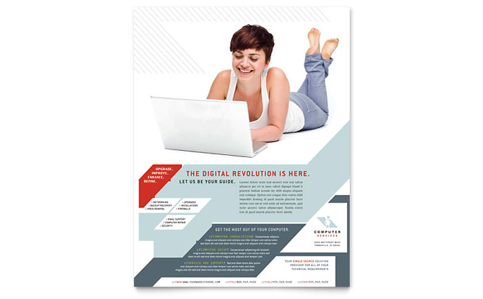 Computer Solutions Flyer Template - Word & Publisher