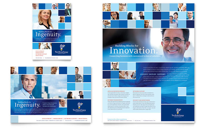 Technology Consulting & IT Flyer & Ad Template - Word & Publisher