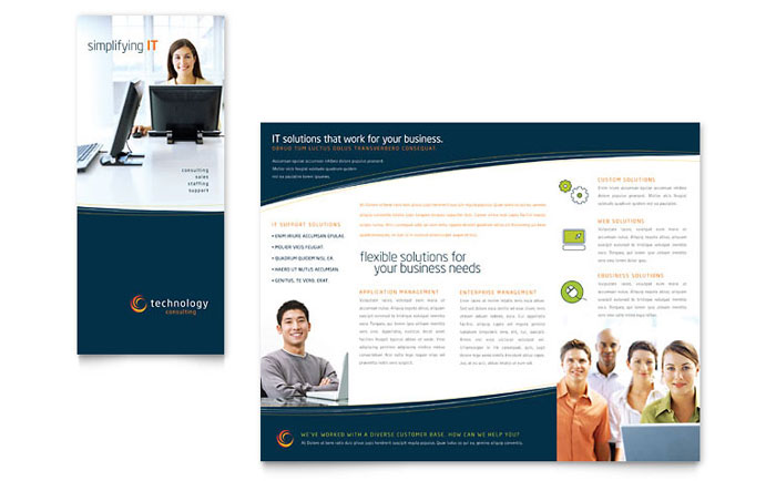 Free TriFold Brochure Template Word Publisher Microsoft – Ms Word Cover Page Templates Free Download