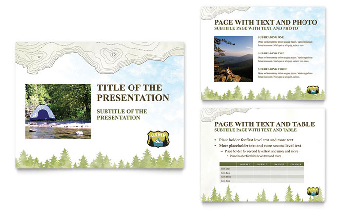 Nature Camping Hiking PowerPoint Presentation PowerPoint Template – Powerpoint Flyer Template