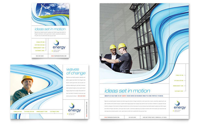 renewable energy consulting flyer  u0026 ad template