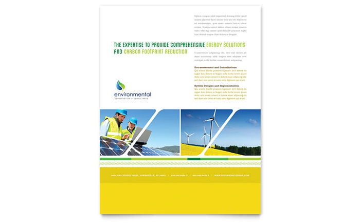 Environmental Conservation Flyer Template - Word & Publisher