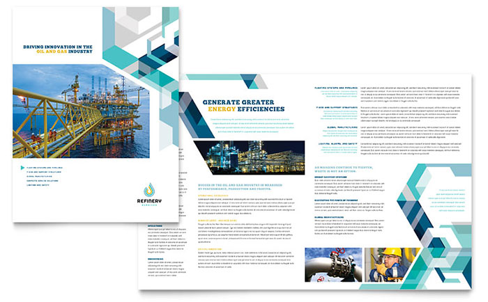 Oil Amp Gas Company Brochure Template Word Amp Publisher
