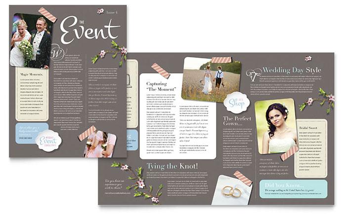 wedding planner newsletter template word publisher. Black Bedroom Furniture Sets. Home Design Ideas