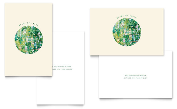 peace on earth greeting card template