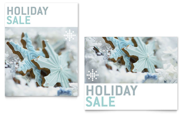 Snowflake Cookies Sale Poster Template - Word & Publisher