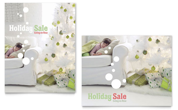 Christmas Dreams Sale Poster Template - Word & Publisher
