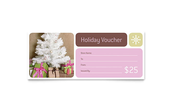 Contemporary Christmas Gift Certificate Template - Word & Publisher