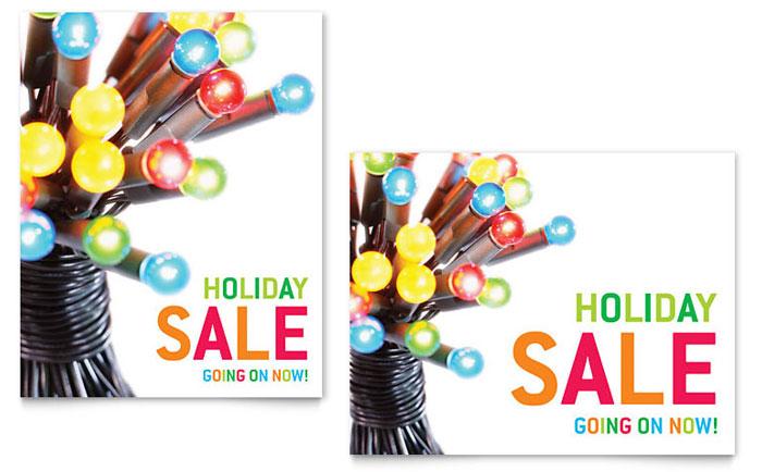 Christmas Light Template Christmas lights sale poster