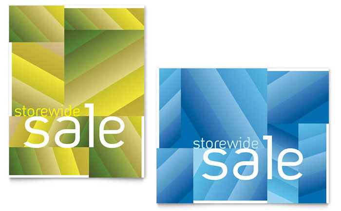 Storewide Clearance Sale Poster Template - Word & Publisher