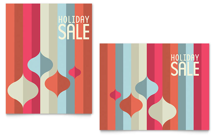 Modern Ornaments Sale Poster Template - Word & Publisher