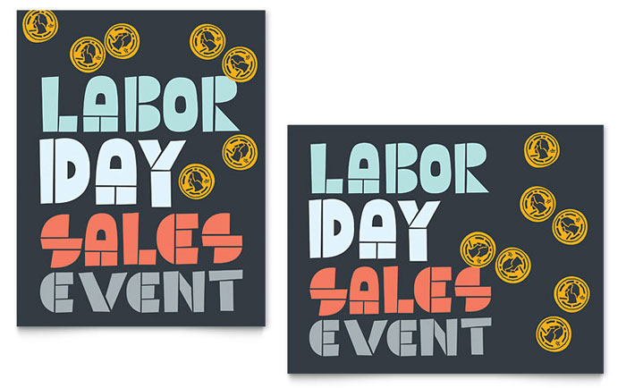 Labor Day Sale Poster Template - Word & Publisher