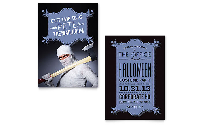 Halloween Costume Party Invitation Template - Word & Publisher