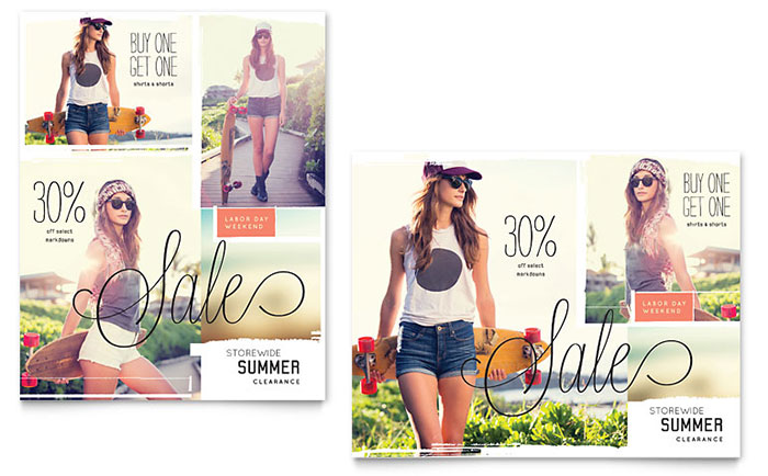 Casual Clothing Sale Poster Template - Word & Publisher