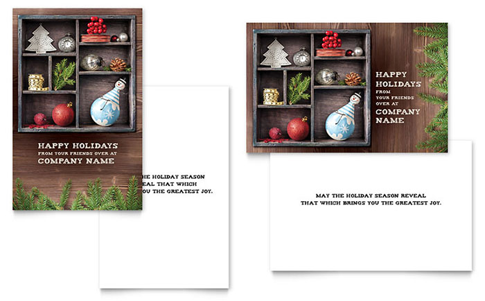 Crafty Ornaments Greeting Card Template - Word & Publisher