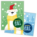 Santa Polar Bear - Sale Poster Template