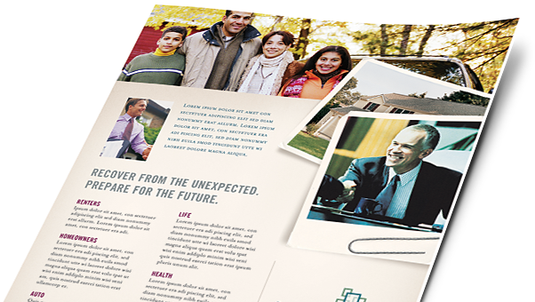Insurance Brochures, Flyers, Newsletters - Microsoft Word Templates & Publisher Templates