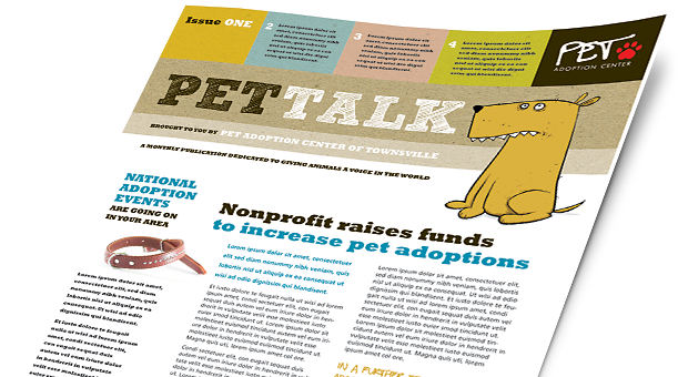 Animals & Pet Care Brochures, Flyers, Newsletters - Microsoft Word Templates & Publisher Templates