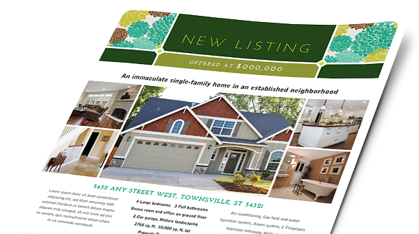 Real Estate Brochures Amp Flyers Word Amp Publisher Templates
