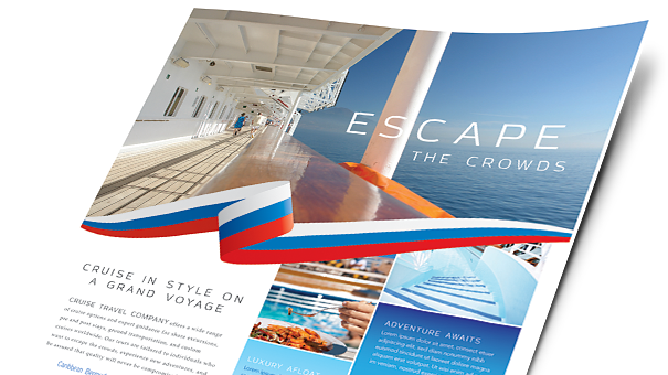 Travel tourism brochures flyers word publisher for Template for a brochure in microsoft word