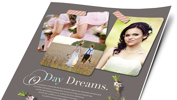 Wedding & Events Brochures, Flyers, Newsletters - Microsoft Word Templates & Publisher Templates