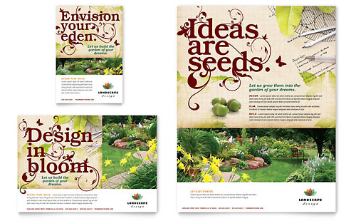 Landscape Design Flyer & Ad Template - Microsoft Office
