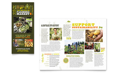 Farmers Market Tri Fold Brochure Template - Microsoft Office