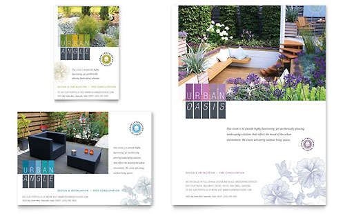 Urban Landscaping Flyer & Ad Template - Microsoft Office