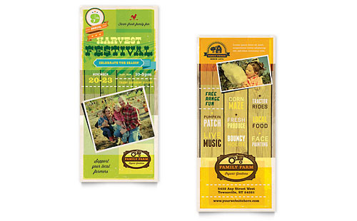 Harvest Festival Rack Card Template - Word & Publisher