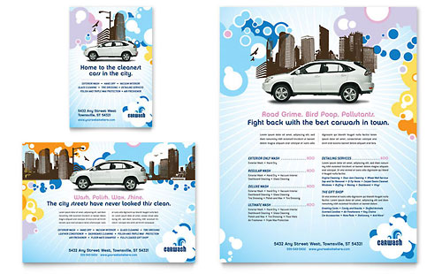Car Wash Flyer & Ad Template - Microsoft Office