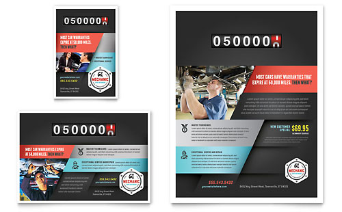 Auto Mechanic Flyer & Ad Template - Microsoft Office