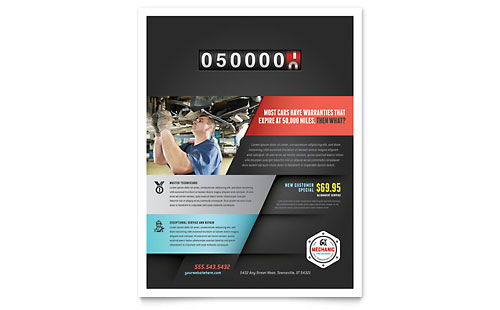 Auto Mechanic Flyer Template - Microsoft Office