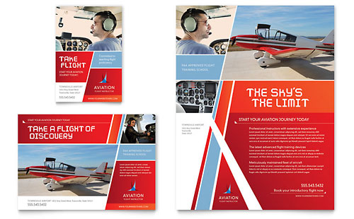 Aviation Flight Instructor Flyer & Ad Template - Microsoft Office