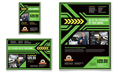 Oil Change Flyer & Ad Template - Microsoft Office