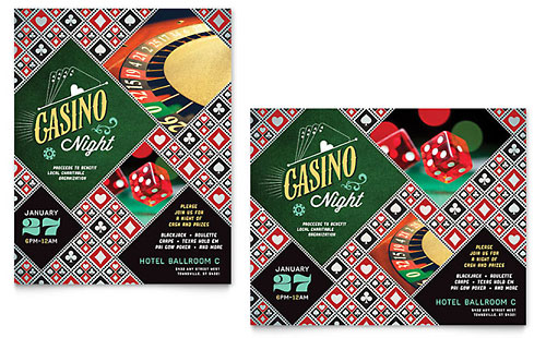 Casino Night Poster Template - Microsoft Office