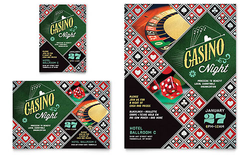 Casino Night Flyer & Ad Template - Microsoft Office