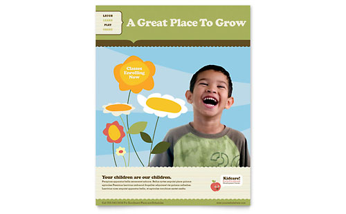 Child Development School Flyer Template - Microsoft Office