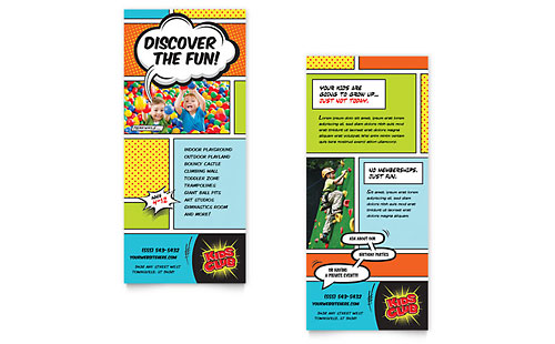 Kids Club Rack Card Template - Microsoft Office