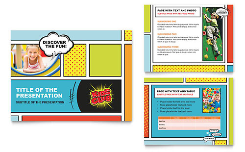 Kids Club PowerPoint Presentation Template - Microsoft Office