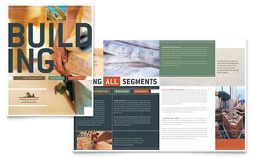 Home Builders & Construction Brochure Template - Microsoft Office